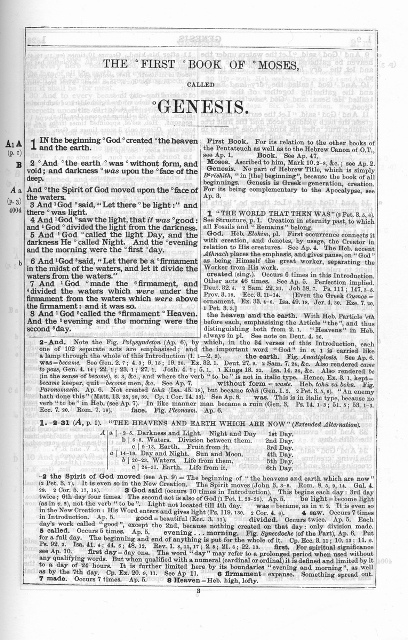 Actual Page from the Companion Bible By E.W. Bullinger